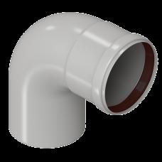 Отвод конденсационный угол 90гр. Ø80