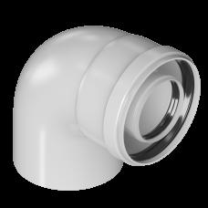 Отвод конденсационный угол 90гр. Ø80/125