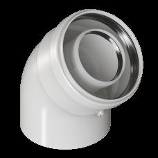 Отвод конденсационный угол 45гр. Ø80/125