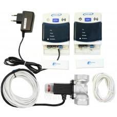 Сигнализатор загазованности САКЗ-МК-2-1А бытовой с клапаном КЗЭУГ DN-20 на метан (CH4) и угарный газ (CO)