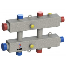 Гидравлический коллектор модульного типа на три контура ГКМ-3-60 (серебро)