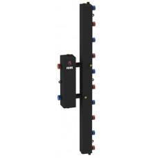 Гидравлический разделитель модульного типа на пять контуров ГРМ-5V (черный)