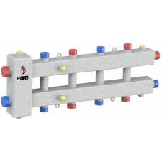 Гидравлический разделитель модульного типа на пять контуров ГРМ-5-60 (серебро)