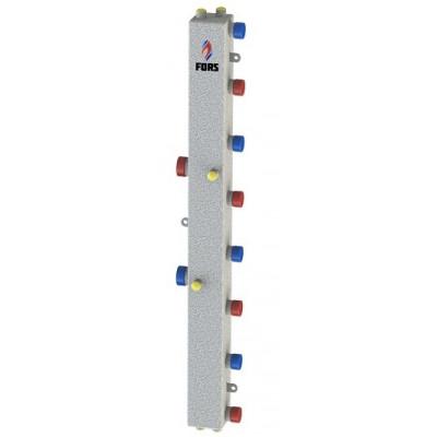 Гидравлический коллектор модульного типа на четыре контура ГКМ-4V (серебро)