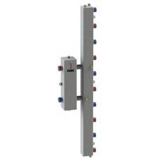Гидравлический разделитель модульного типа на пять контуров ГРМ-5V (серебро)