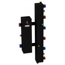 Гидравлический разделитель модульного типа на три контура ГРМ-3V (черный)