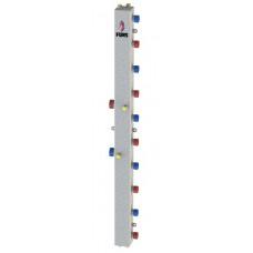 Гидравлический коллектор модульного типа на пять контуров ГКМ-5V (серебро)