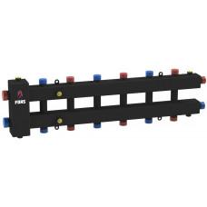 Гидравлический разделитель модульного типа на семь контуров ГРМ-7-60 (черный)