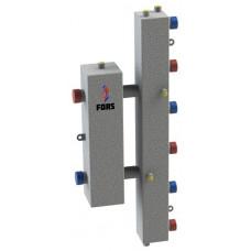 Гидравлический разделитель модульного типа на три контура ГРМ-3V (серебро)