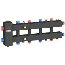 Гидравлический разделитель модульного типа на пять контуров ГРМ-5-60 (черный)