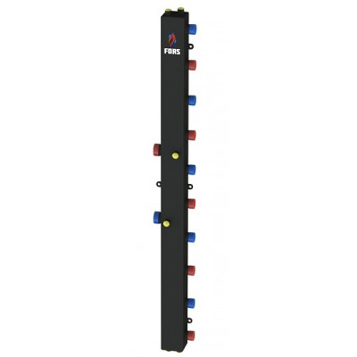 Гидравлический коллектор модульного типа на пять контуров ГКМ-5V (черный)