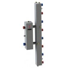 Гидравлический разделитель модульного типа на четыре контура ГРМ-4V (серебро)