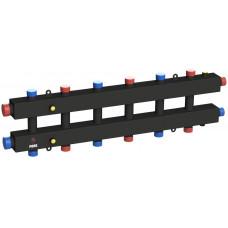 Гидравлический коллектор модульного типа на семь контуров ГКМ-7-60 (черный)