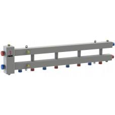 Гидравлический разделитель модульного типа на пять контуров ГРМ-5Н-60 (серебро)