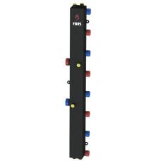 Гидравлический коллектор модульного типа на четыре контура ГКМ-4V (черный)