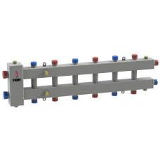 Гидравлический разделитель модульного типа на семь контуров ГРМ-7-60 (серебро)