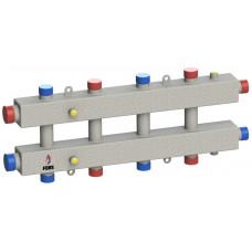 Гидравлический коллектор модульного типа на пять контуров ГКМ-5-60 (серебро)