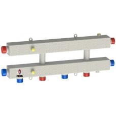 Гидравлический коллектор модульного типа на три контура ГКМ-3Н-60 (серебро)